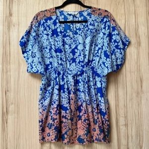 Cabi ombré floral tunic size small